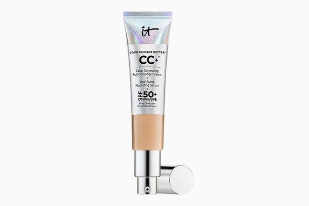 СС-крем IT Cosmetics Your Skin But Better CC+ Cream with SPF 50+ с коллагеном, пептидами, ниацинамидом и антиоксидантами. Изображение № 6.