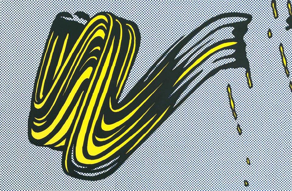 Roy LichtensteinBrushstroke 1965. Изображение № 3.