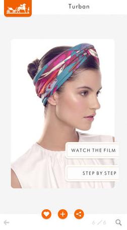 Приложение Hermès научит повязывать шарфы и платки. Изображение № 2.