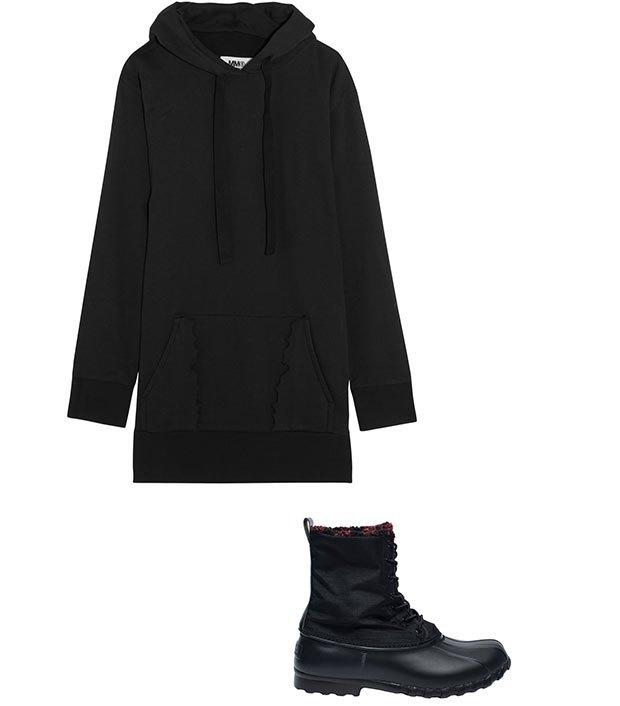 Комбо: Зимние ботинки с платьем-худи. Изображение № 2.