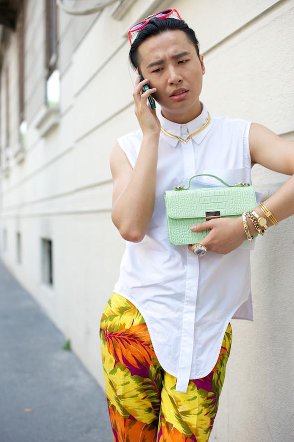 Стрит-стайл: Неделя мужской моды в Милане. Изображение № 5.