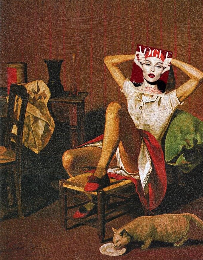 Mag + Art: Коллажи из глянца и живописи. Изображение № 7.