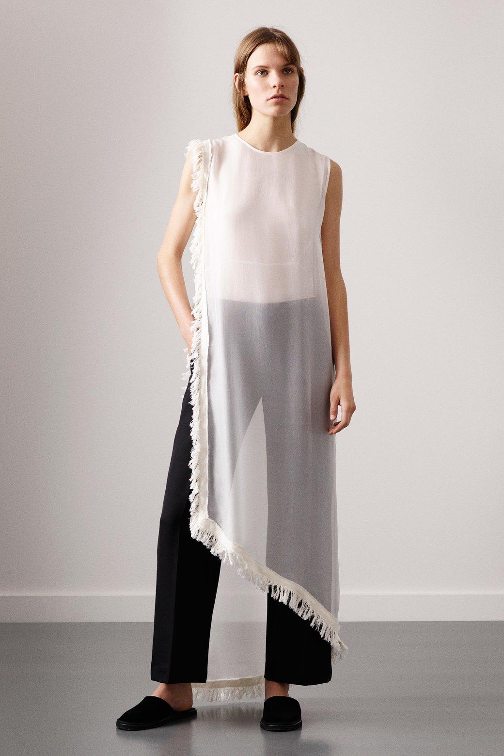 Платье на брюки:  Как использовать  многослойность. Изображение № 5.