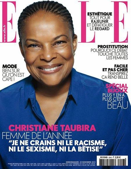 Французский Elle выбрал женщиной года министра юстиции. Изображение № 1.