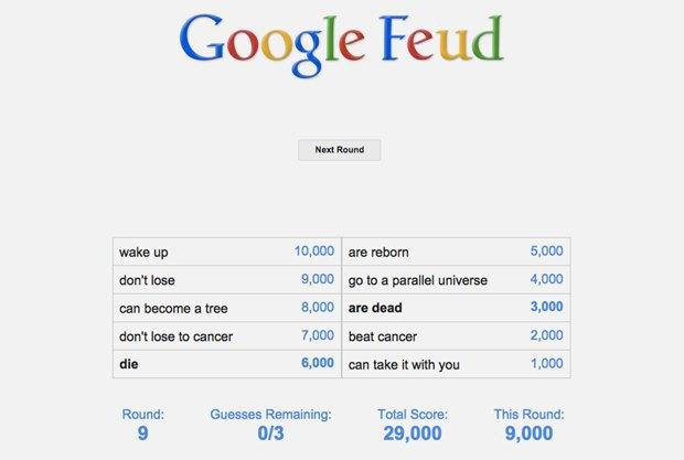 «Google Feud»: викторина  по популярным поисковым запросам. Изображение № 11.