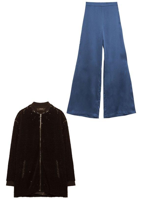 Комбо: Жакет в пайетках c пижамными брюками. Изображение № 2.