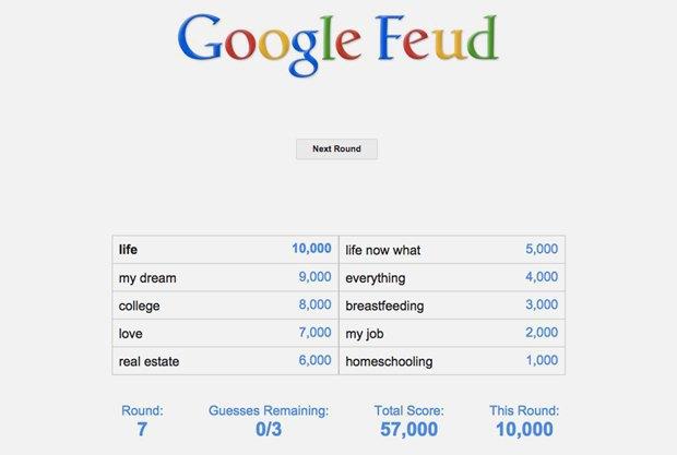 «Google Feud»: викторина  по популярным поисковым запросам. Изображение № 7.