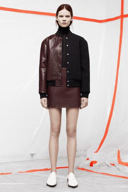 Кожаные толстовки и брюки в коллекции T by Alexander Wang. Изображение № 1.