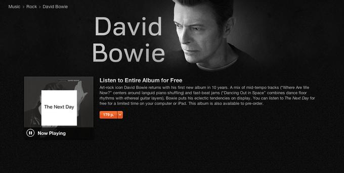 Дэвид Боуи выпустил альбом The Next Day. Изображение № 1.