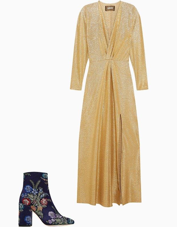 Комбо: Нарядное платье с ботильонами. Изображение № 3.