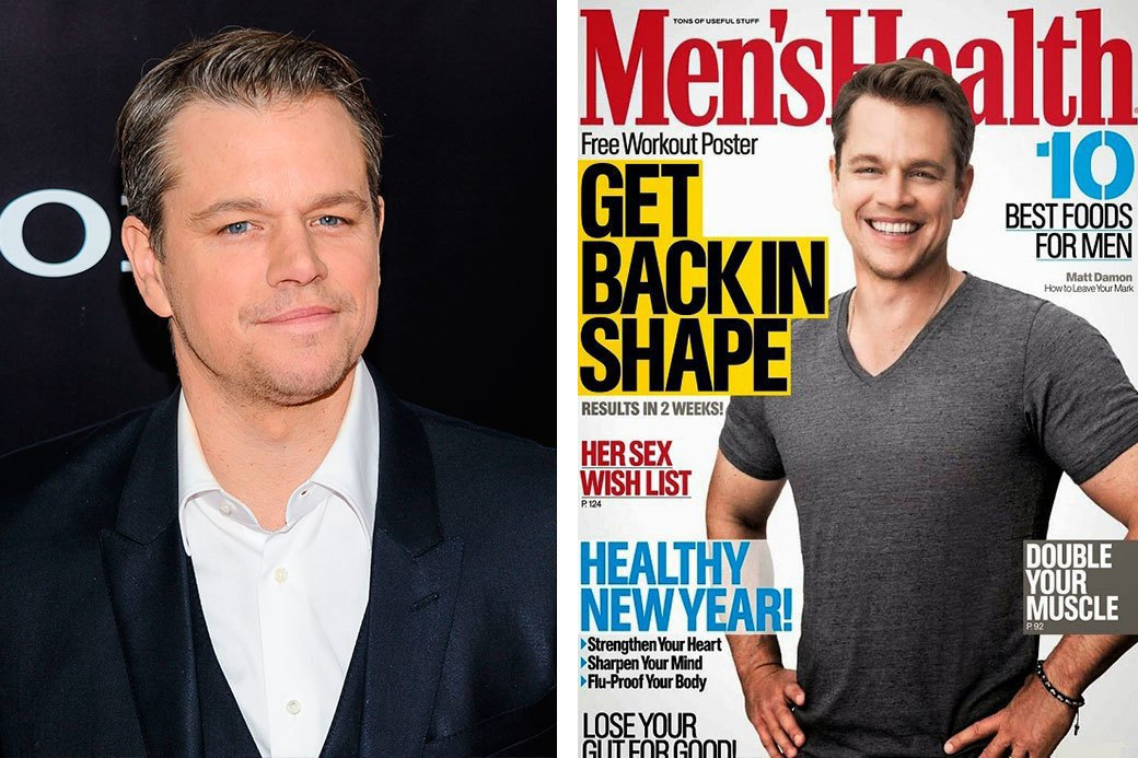 Нереально красивые: Знаменитые мужчины  до и после фотошопа. Изображение № 3.