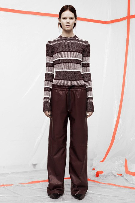 Кожаные толстовки и брюки в коллекции T by Alexander Wang. Изображение № 3.