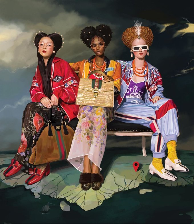 Новую кампанию Gucci нарисовал художник. Изображение № 2.