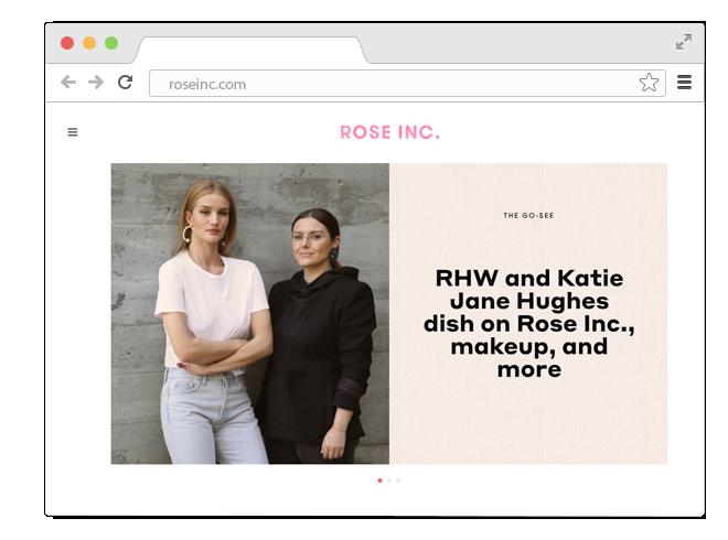 В закладки: Бьюти-сайт Роузи Хантингтон-Уайтли Rose Inc.. Изображение № 1.