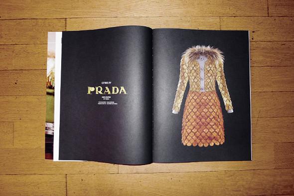 Фотография пальто Prada из лимонов,  фотограф Фульвио Бонавия, стилист Джованна Батталья. Изображение № 22.
