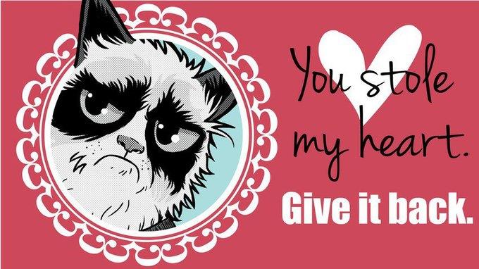 Grumpy Cat стала героиней угрюмых валентинок. Изображение № 8.
