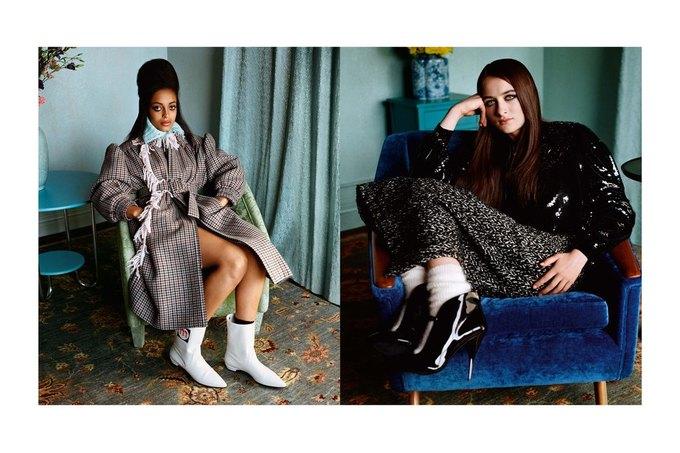 Эль Фаннинг и Джорджия Мэй Джаггер в новой кампании Miu Miu. Изображение № 5.