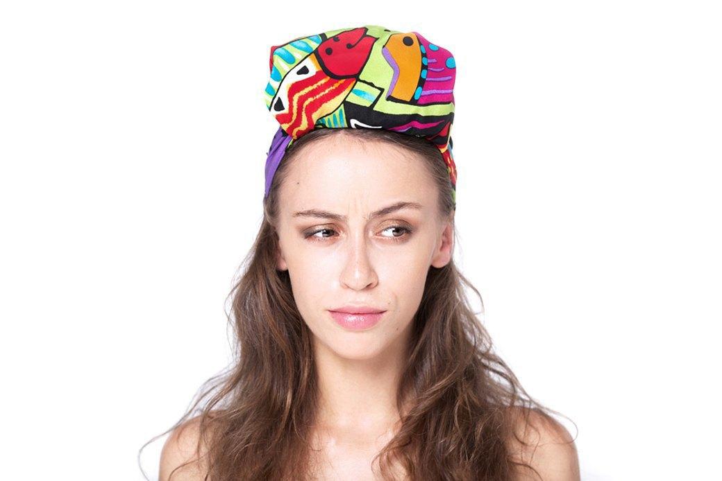 7 способов повязать платок  на голову. Изображение № 7.