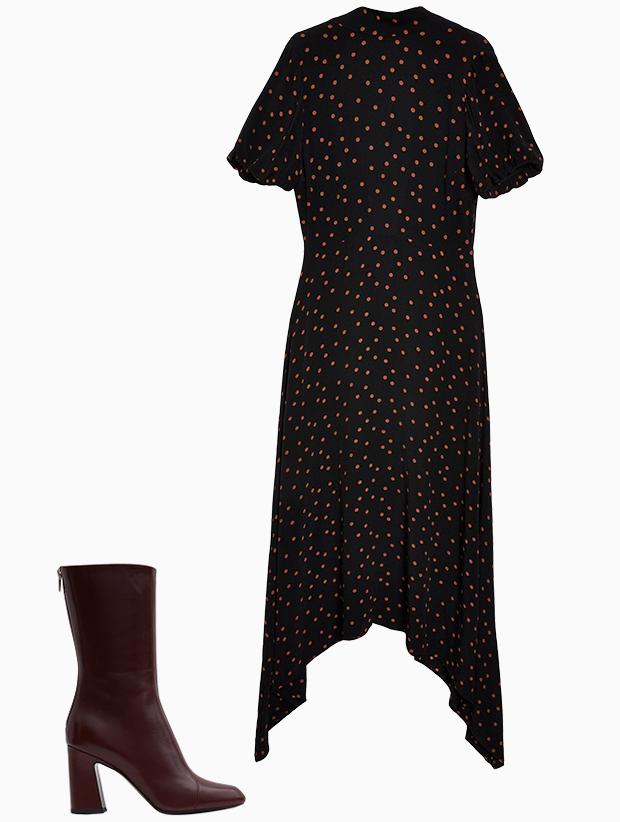 Комбо: Платье миди с сапогами. Изображение № 3.