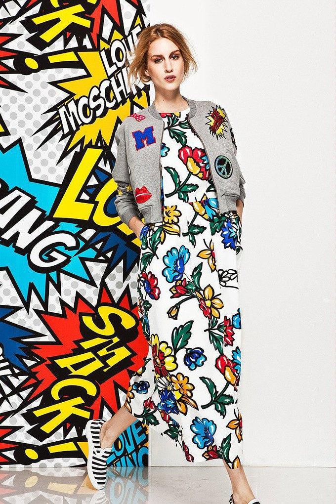 Яркие принты и костюмы в лукбуке Love Moschino. Изображение № 17.