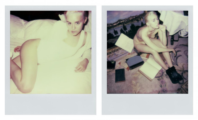 Майли Сайрус показала откровенные личные полароиды в V Magazine. Изображение № 4.