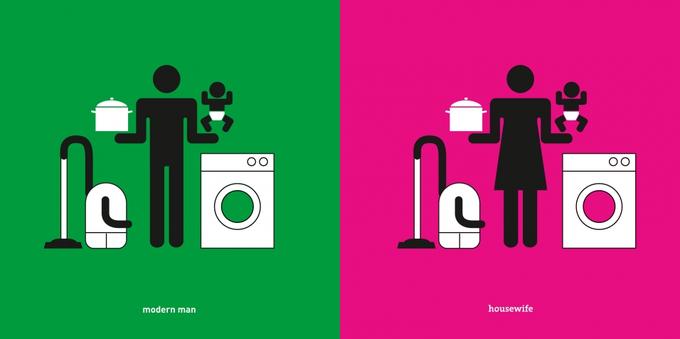 Дизайнер высмеивает гендерные стереотипы в серии иллюстраций. Изображение № 2.