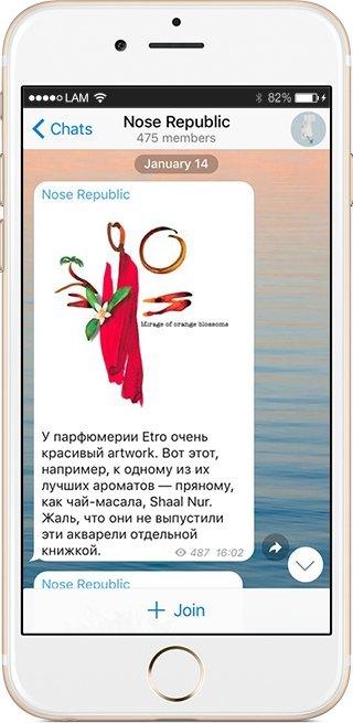 На кого подписаться: Телеграм-канал о парфюмерии Nose Republic. Изображение № 4.
