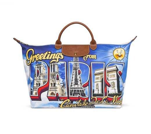 Джереми Скотт создал для Longchamp сумку в виде открытки из Парижа. Изображение № 1.