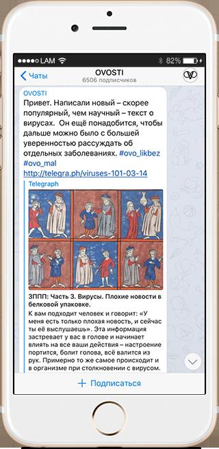 На кого подписаться: Телеграм-канал о женском здоровье Ovosti. Изображение № 4.