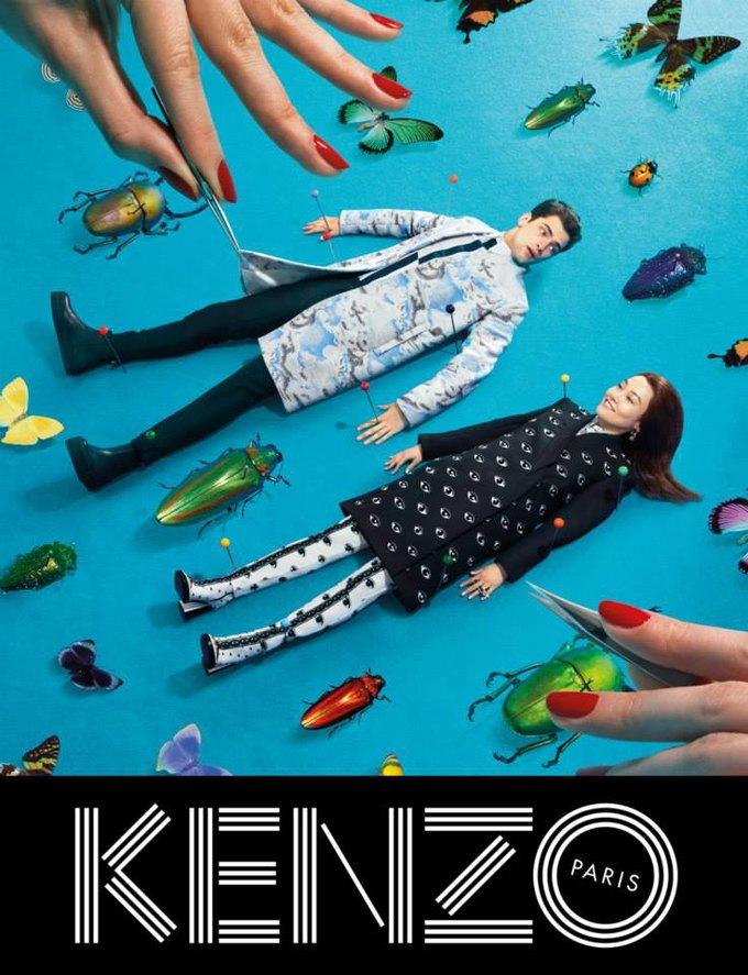 Котики и глаза в новой кампании Kenzo. Изображение № 1.