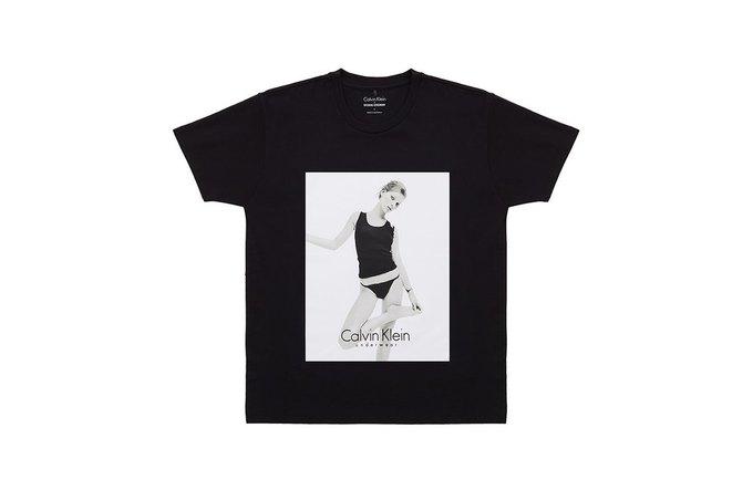 Opening Ceremony и Calvin Klein выпустили футболки  с Кейт Мосс. Изображение № 4.
