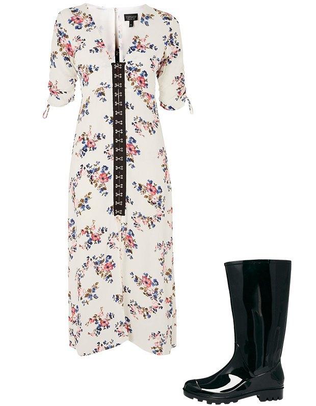 Комбо: Платье с резиновыми сапогами. Изображение № 2.
