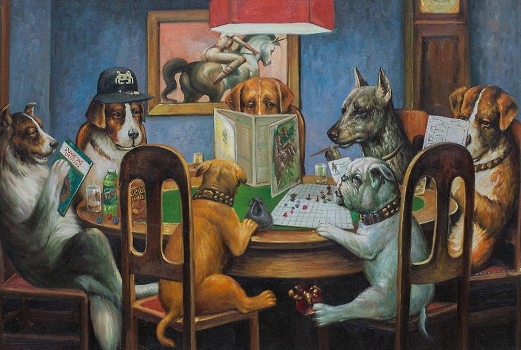 Собаки, играющие  в «Dungeons & Dragons». Изображение № 1.