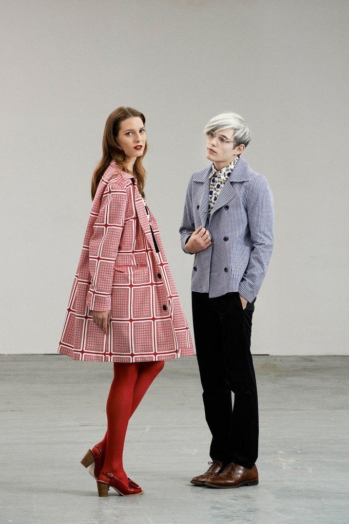 Модели в образах Полетт Годдар и Энди Уорхола в лукбуке Peter Jensen. Изображение № 2.