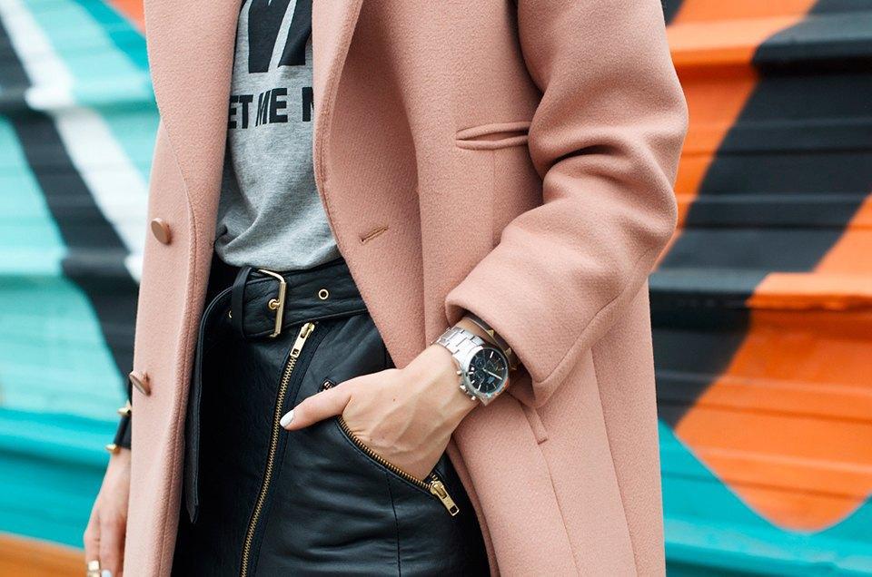 Розовый и остроумные  принты на гостях Paris Fashion Week. Изображение № 19.