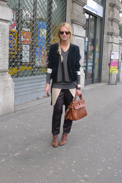 Milan Fashion Week: день четвертый – луки. Изображение № 3.
