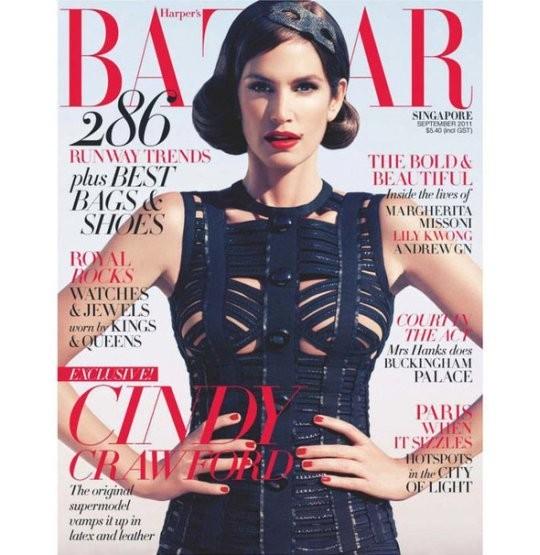 Синди Кроуфорд на обложке сингапурского Harper's Bazaar. Изображение № 20.