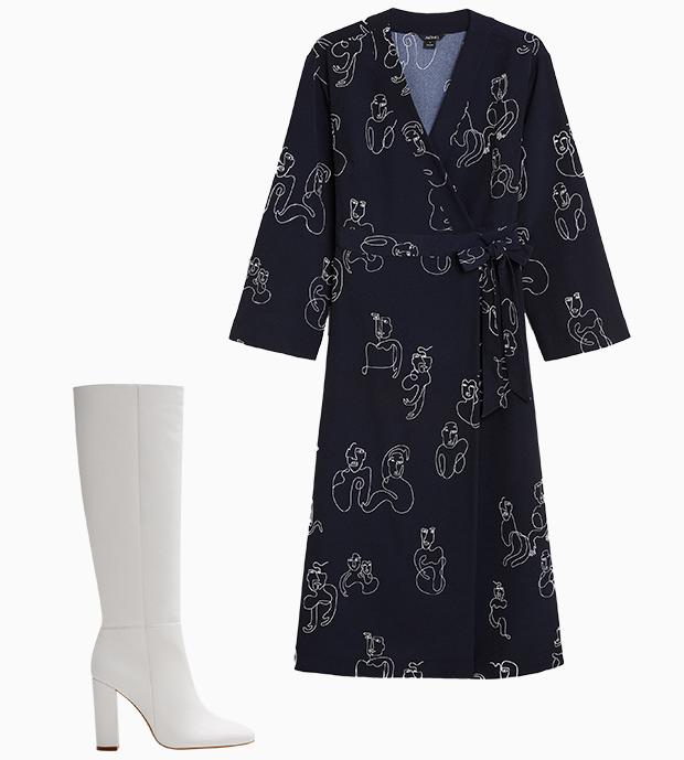 Комбо: Платье миди с сапогами. Изображение № 1.