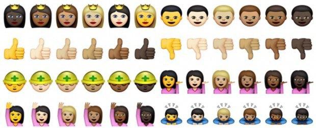 Apple показали, как будут выглядеть эмодзи с разным цветом кожи. Изображение № 2.
