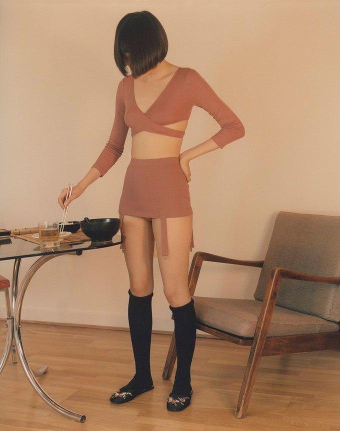 Marieyat выпустили нежный лукбук белья с девушками  и едой. Изображение № 3.