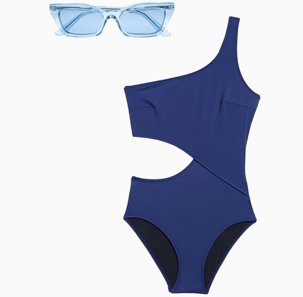 Комбо: Слитный купальник с солнечными очками. Изображение № 1.