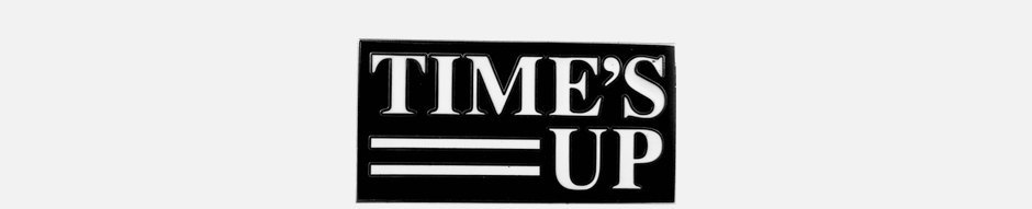 Значок кампании против сексуальных домогательств Time's Up. Изображение № 1.