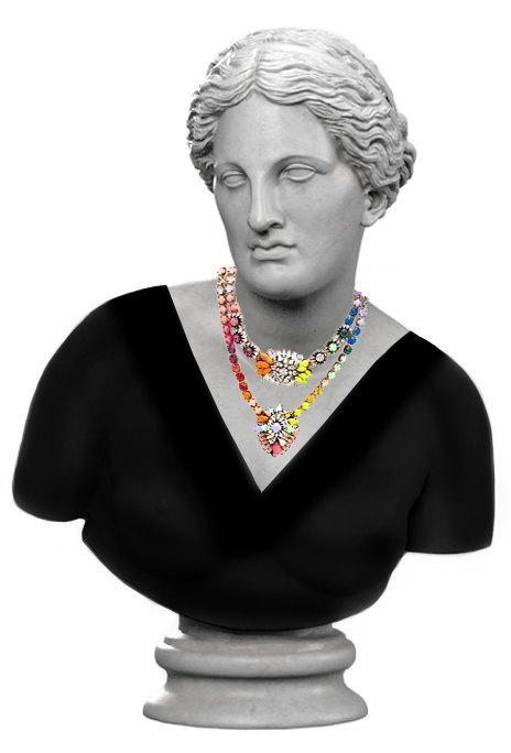 Как сочетать  вырезы и ожерелья. Изображение № 5.