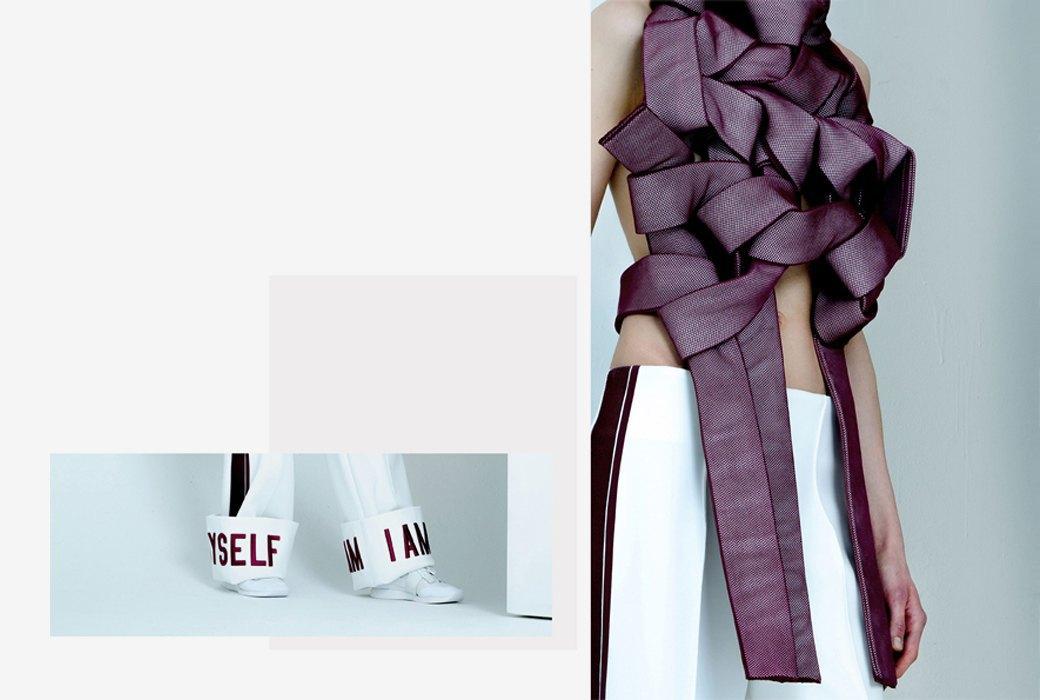 Andrea Jiapei Li: Женская одежда с намеком  на бандаж и оригами. Изображение № 2.