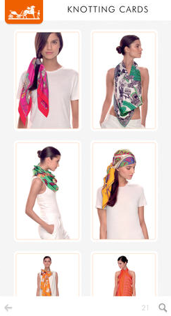 Приложение Hermès научит повязывать шарфы и платки. Изображение № 3.
