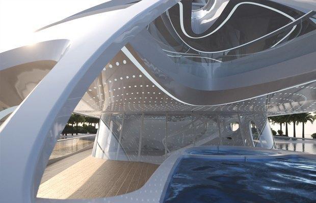 Заха Хадид разработала дизайн футуристической суперъяхты. Изображение № 2.