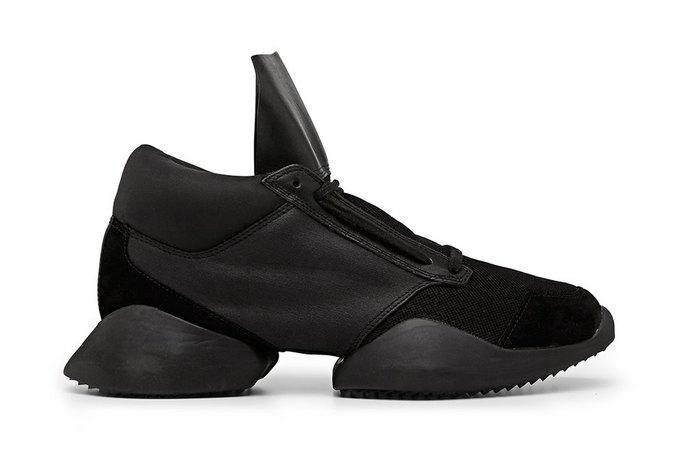 Кожаные и нейлоновые кроссовки Рика Оуэнса для adidas. Изображение № 7.