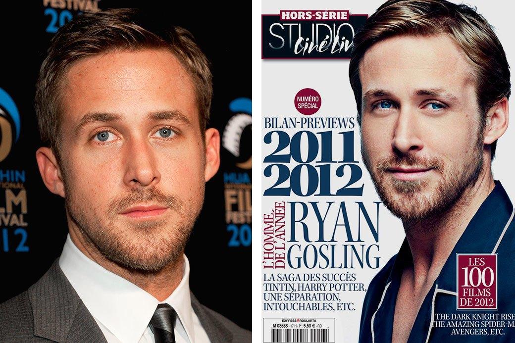 Нереально красивые: Знаменитые мужчины  до и после фотошопа. Изображение № 9.