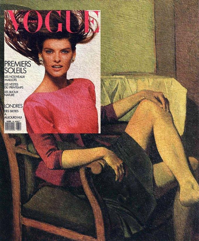 Mag + Art: Коллажи из глянца и живописи. Изображение № 6.