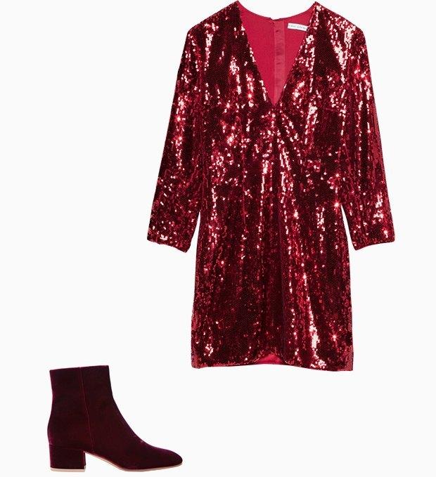 Комбо: Нарядное платье с ботильонами. Изображение № 1.